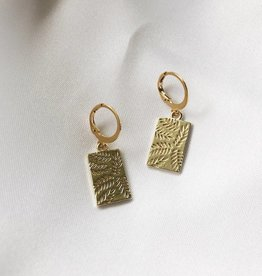 Gold Little Leaf Earrings