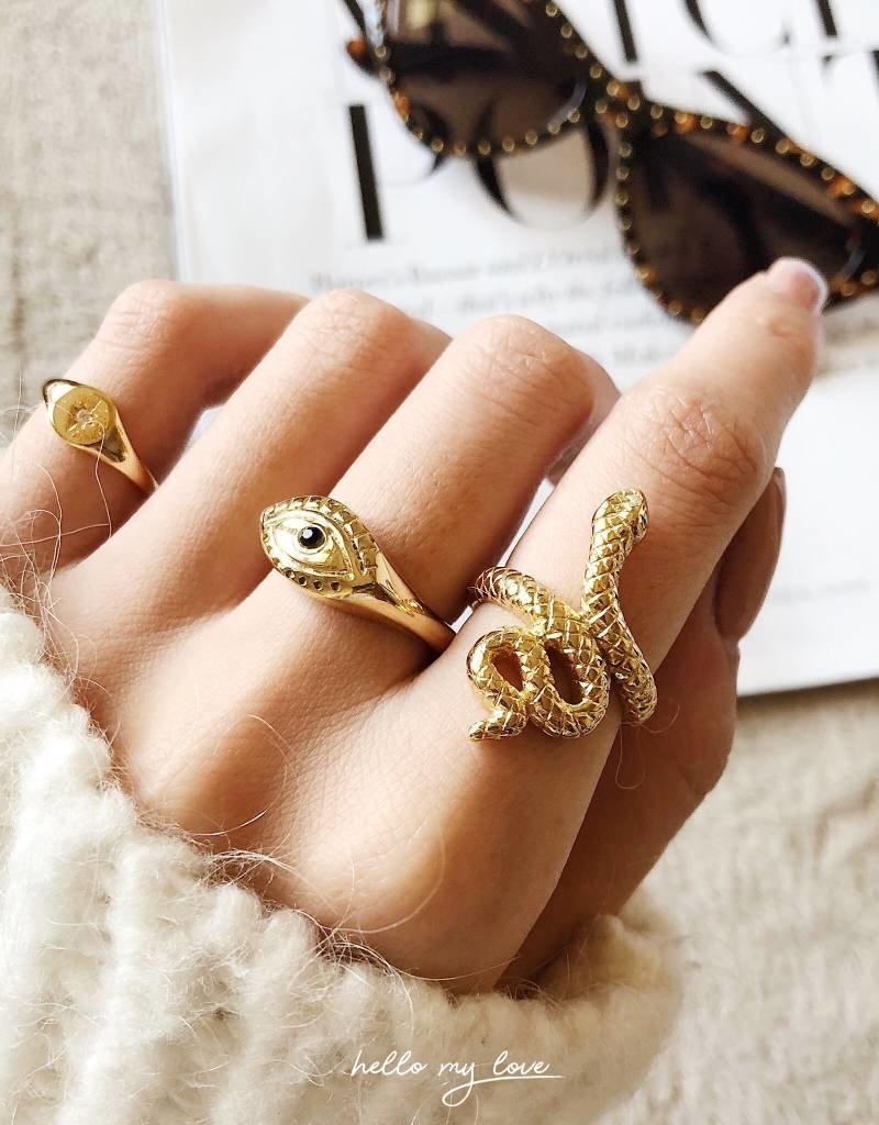Gold Curious Eye Ring