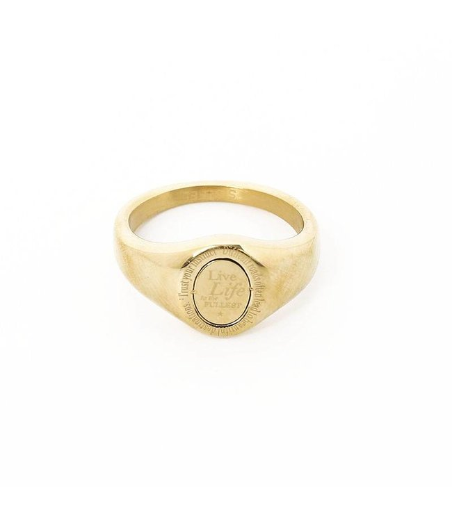 Gold The Life Signet Ring