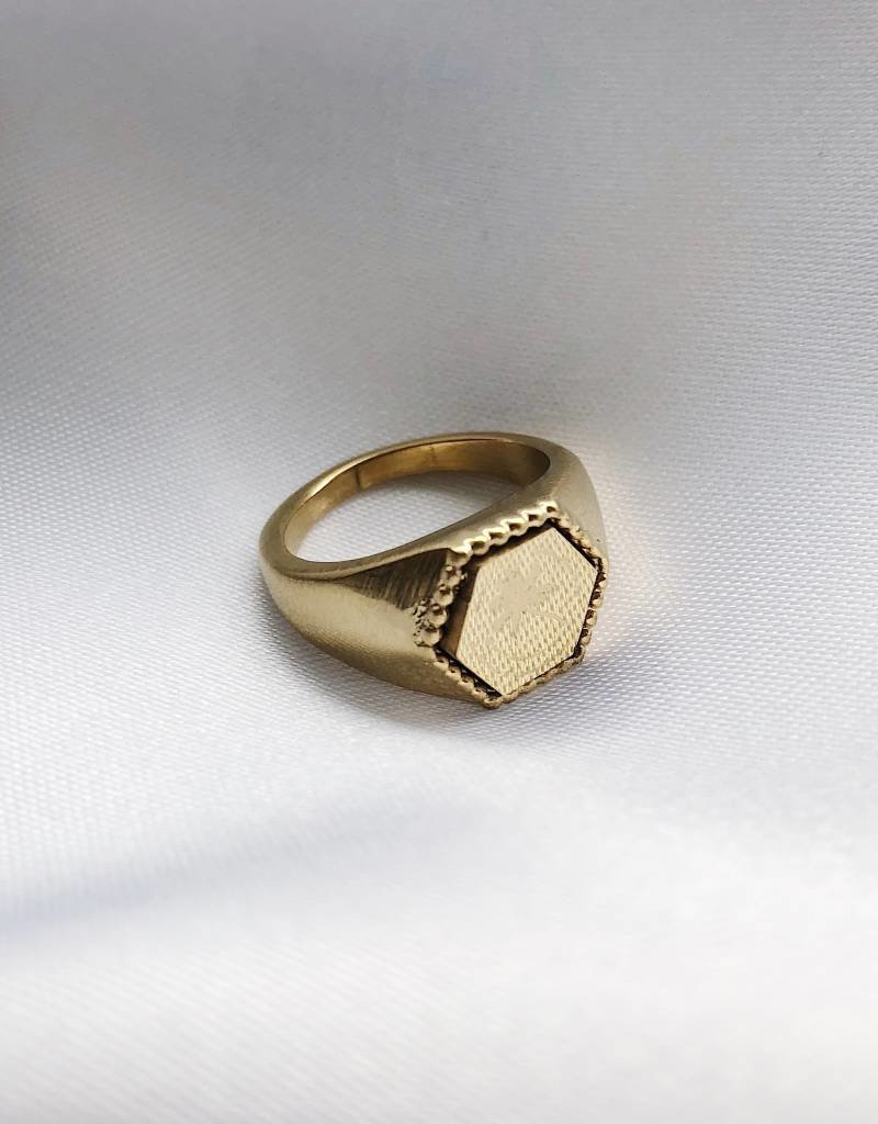 Gold The Palm Tree Signet Ring