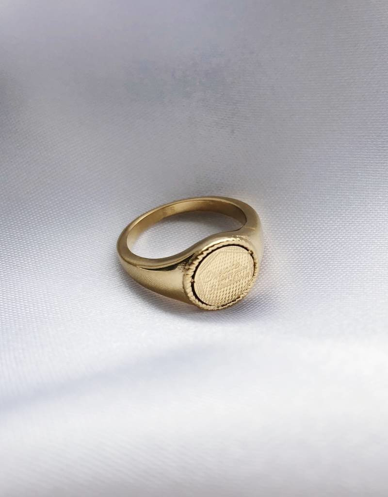 Gold The Sunshine Signet Ring