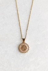 Gold Initial Rhinestone Necklace