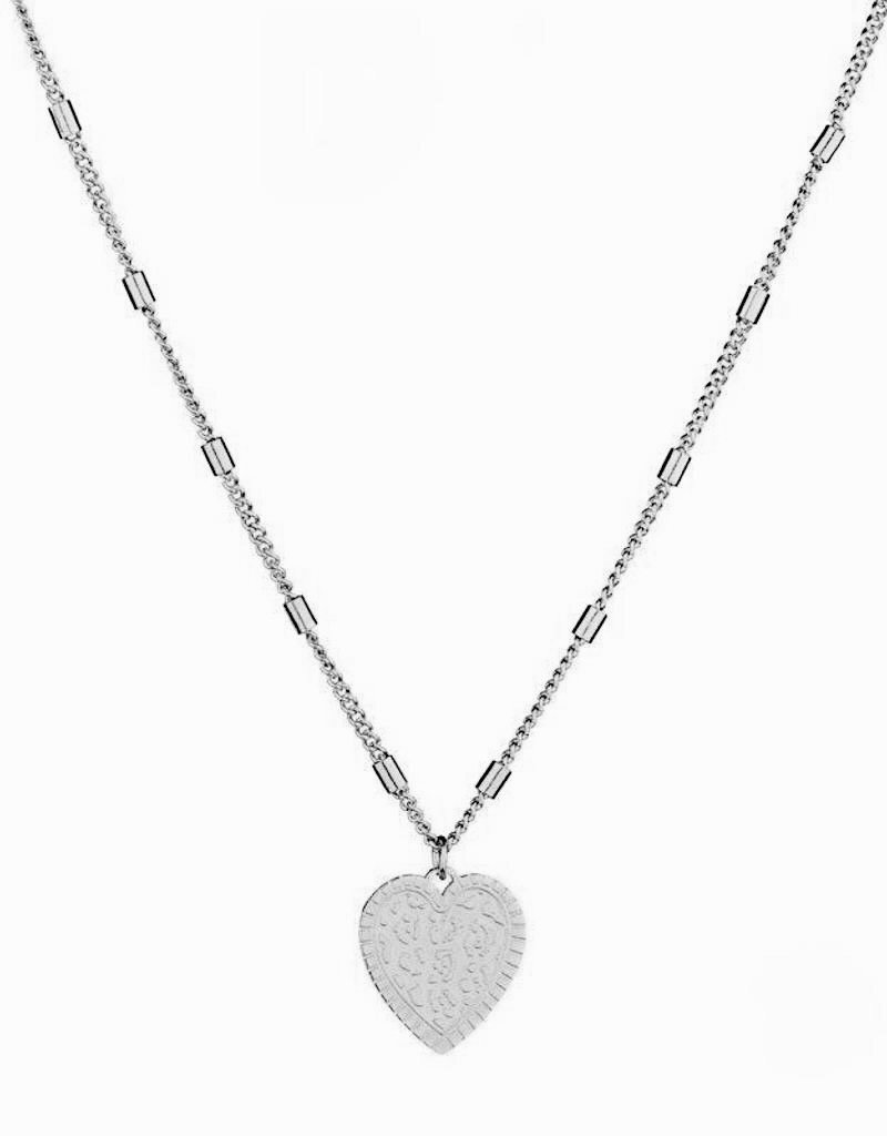Silver Leo Heart Necklace