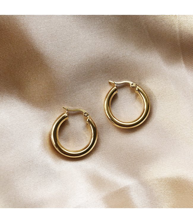 Gold Zara Hoop Earrings