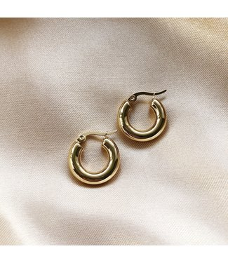 Gold Suki Hoop Earrings
