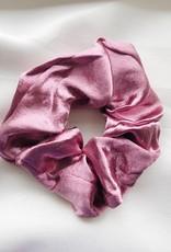 Cara Satin Scrunchie / Dark Pink