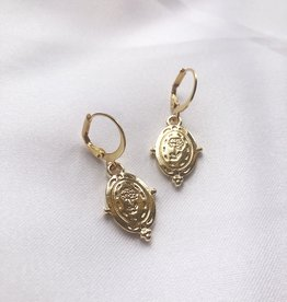 Gold Esmea Rose Earrings