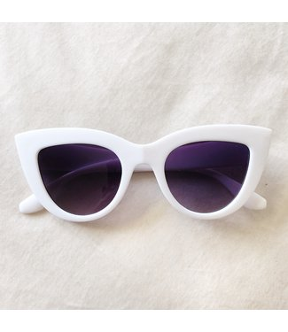 Gina Cateye Sunglasses / White
