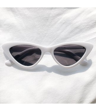 Claire Cateye Sunglasses / White