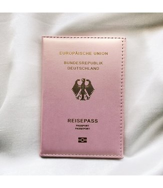 Glowy Pink Passport Cover / German