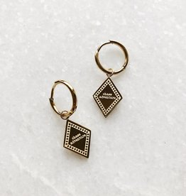 Gold Chase Adventure Earrings