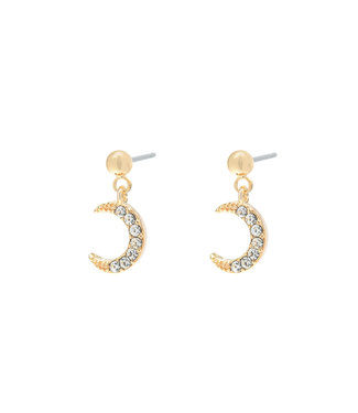 Gold Moonlight Earrings