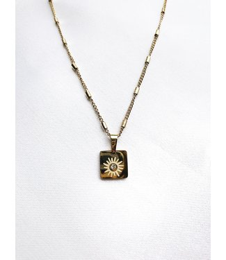 Gold Lovers Of The Sun Necklace