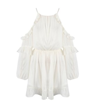 Rosalie Cold Shoulder Dress / White