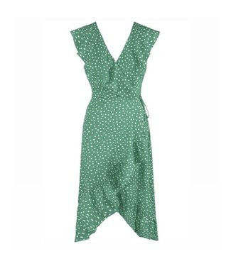 Lois Polkadot Midi Dress / Green
