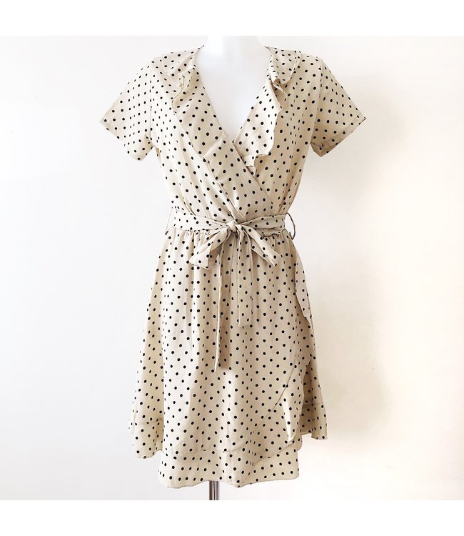 Frances Polkadot Dress / Beige