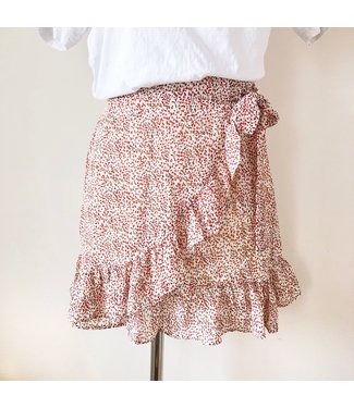 Lilith Flower Skirt / Red