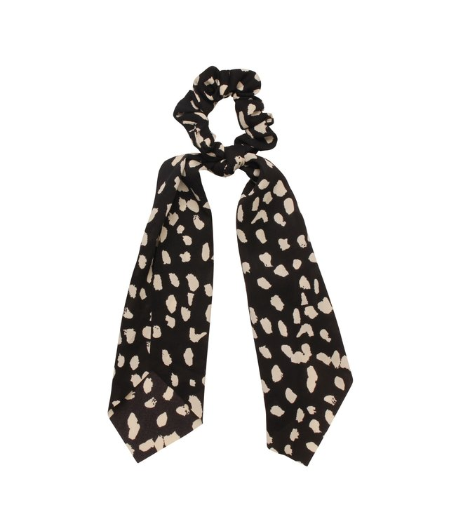 Zoey Cheetah Scrunchie / Black