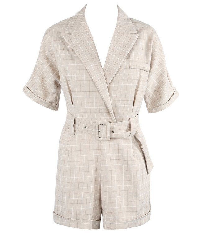 Phoebe Belted Check Playsuit