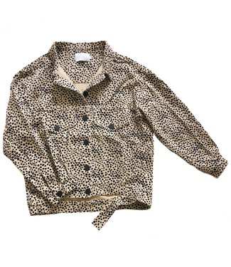 Alexis Printed Cheetah Jacket / Sand