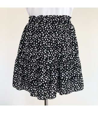 Izzy Printed Dots Skirt / Black
