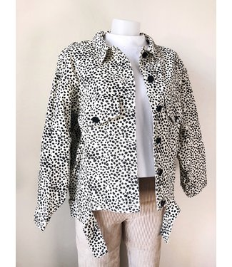 Alexis Printed Cheetah Jacket / Ecru