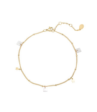 Gold Summer Stars Anklet