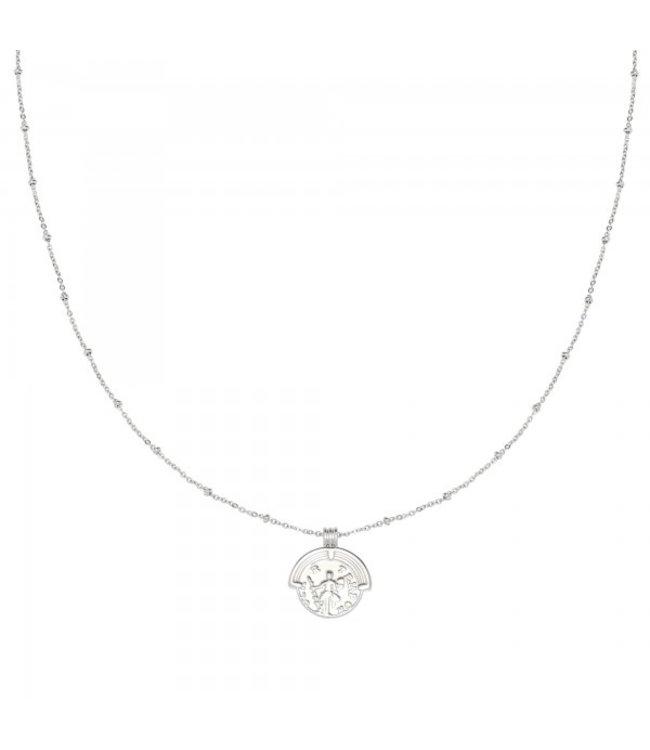Silver Estee Coin Necklace