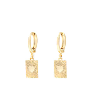 Gold Show Me Love Earrings