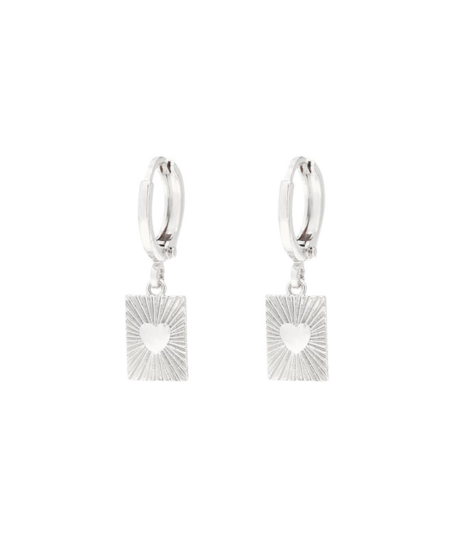 Silver Show Me Love Earrings