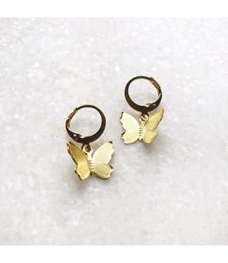 Gold Yara Butterfly Earrings