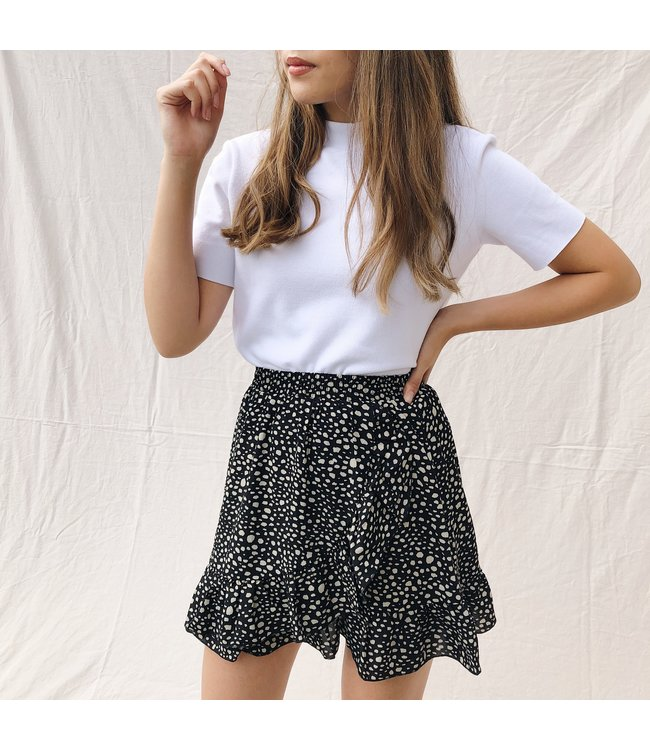 Joy Dots Skirt / Black