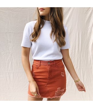Hailey Denim Skirt / Rust