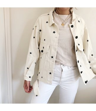 Nova Printed Star Jacket / Off White