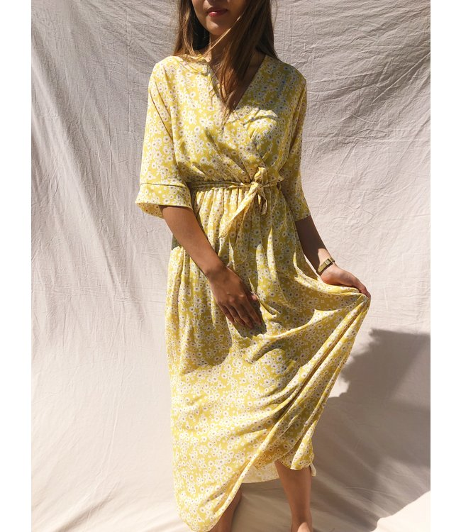 Les Fleurs Maxi Dress / Yellow
