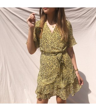 Erika Leopard Dress / Yellow