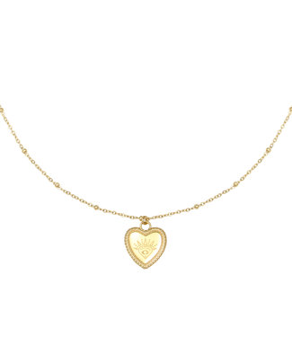 Gold I See Love Necklace