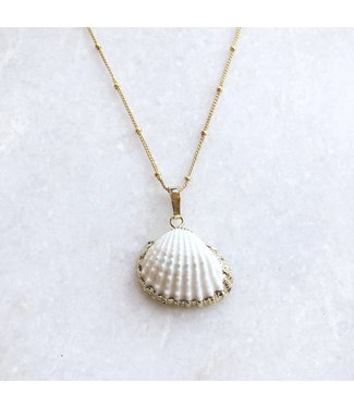 Gold Bodhi Shell Necklace
