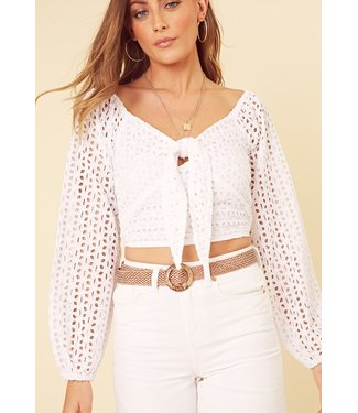Selina Broderie Anglais Top / White