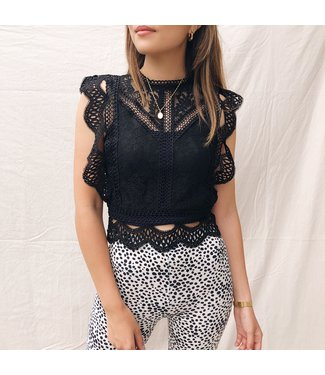 Candice Lace Top / Black