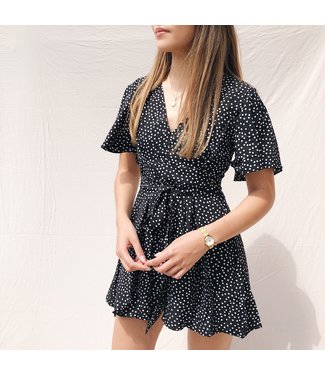 Alessia Dots Playsuit / Black