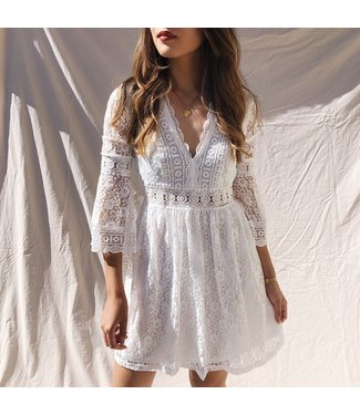 Madeleine Lace Dress / White