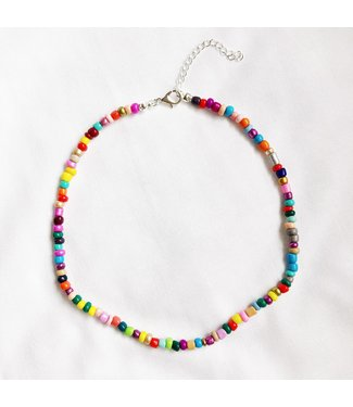 Rainbow Beads Choker Necklace