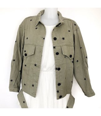 Nova Printed Star Jacket / Army