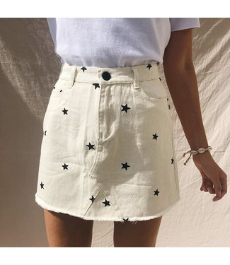Nova Printed Star Skirt / Off White