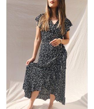 Kaela Leopard Maxi Dress / Black