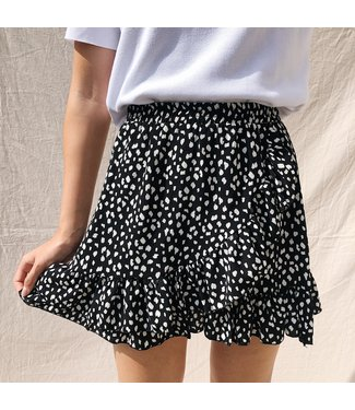 Lucy Leopard Skirt / Black