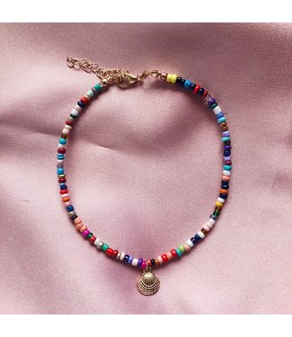 Shell Rainbow Beads Anklet