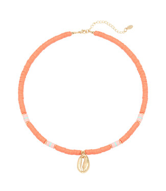 Ocean Breeze Surf Necklace / Coral Orange