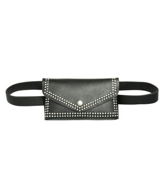 Chelsi Studs Belt Bag / Black